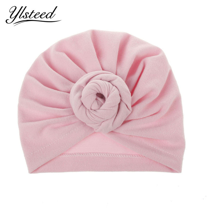 Winter New Cotton Baby India Hat Candy Color Beanie Skullies Muslim Hat Baby Photography Props Kids Toddler Knot Cap