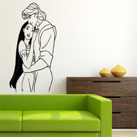John Smith Cartoon Wall Decal For Pocahontas Wall Stickers For Kids Rooms Girls Bedroom Art Mural