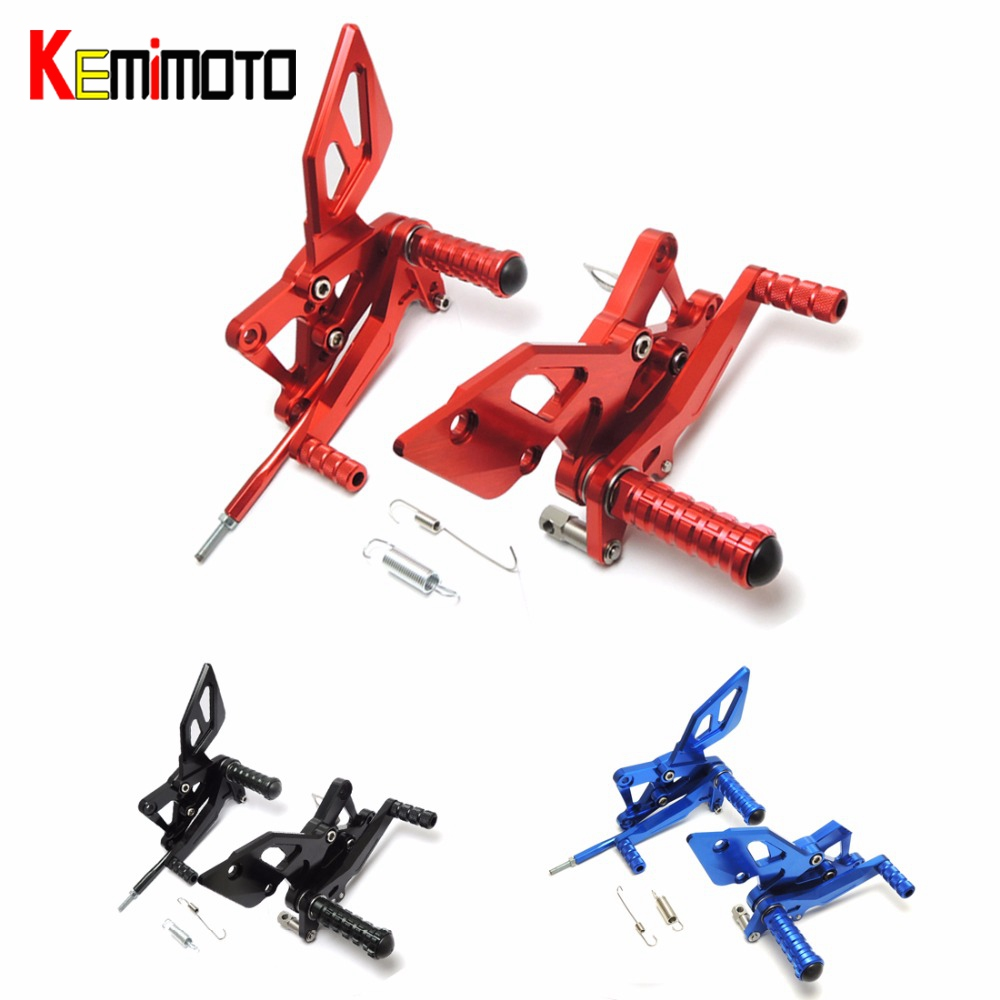 KEMiMOTO FOR  YAMAHA YZF-R25 R3 MT-03 2015-2016 CNC Adjustable Rearsets  Foot Pegs Rear Set Rest 100% Brand newKEMiMOTO FOR  YAMAHA YZF-R25 R3 MT-03 2015-2016 CNC Adjustable Rearsets  Foot Pegs Rear Set Rest 100% Brand new