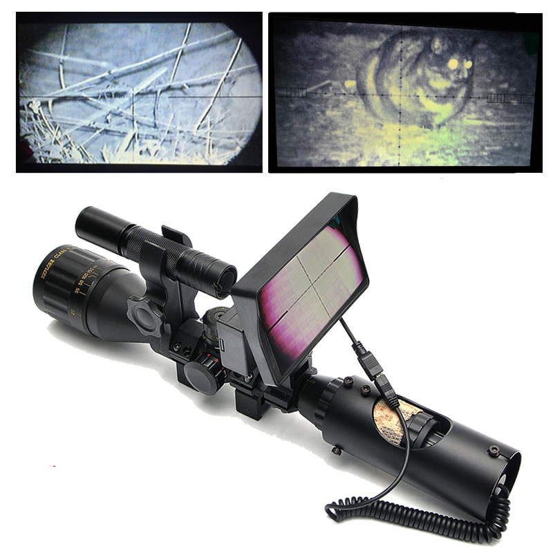 Hunting Night Vision Riflescope Tactical Digital Infrared Night Vision With Battery Monitor And Flashlight Visao Noturna