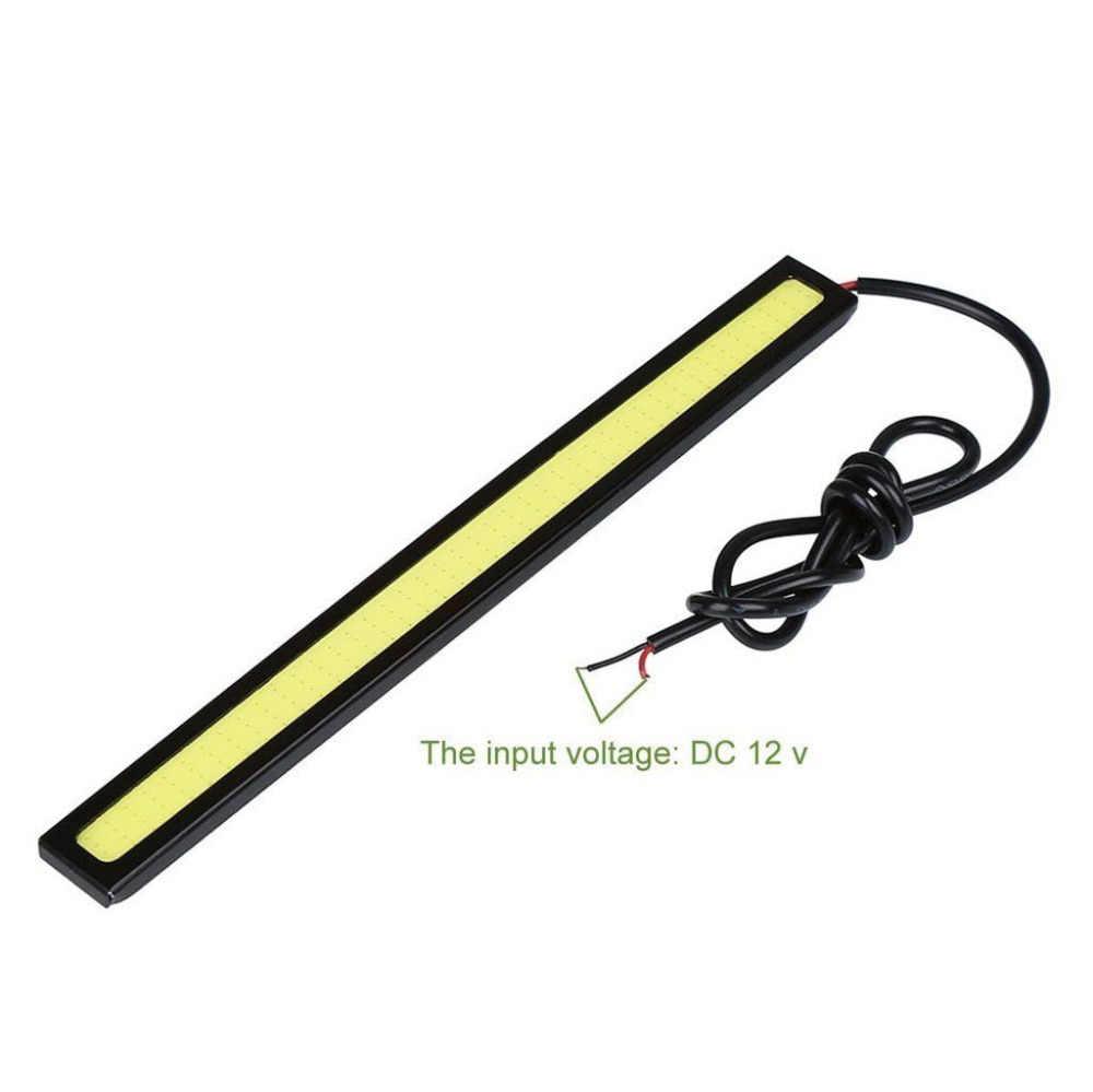 1 قطعة تصفيف السيارة الترا برايت 12 واط LED تشغيل أضواء تيار مستمر 12 فولت 17 سنتيمتر 100% مقاوم للماء السيارات السيارات COB القيادة الضباب مصباح