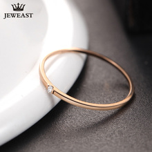 Natural diamond Ring 18k Pure Gold Classic Girl gift Women Hot Selling Party Trendy New 2017 Discount nice Good Rings Customize