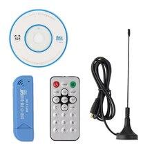 Nouveau USB 2.0 Numérique DVB-T DTS FM DAB HDTV TV Tuner Récepteur Bâton RTL2832U R820T2 Soutien Windows 2000/XP/Vista/WIN7