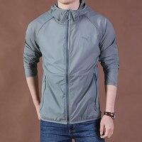 Jacket Men Summer Hooded Sunscreen Jackets Windbreaker Fashion Brand Clothing Women Men Veste Homme Plus Size