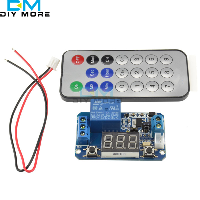 Infrared remote control DC 12V timer delay relay LED tube display module for Arduino dc 12v led display digital delay timer control switch module plc automation new 828 promotion