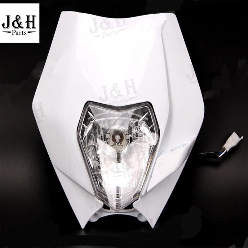 Universal Motorcycle Dirt Bike Motocross Supermoto Headlight Bulb KTM SX F EXC XCF SMR Headlamp - H&J Parts Shop store