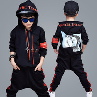 Boys Hooded Set New Autumn And Winter Korean Children In Children With Cashmere Thickened Two Pieces