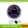 2Inch  52mm Smoke Lens  Vacuum Gauge 30~0 In.Hg Red LED Auto Smoke  Lens  Car 52mm Vacuum Gauge Boost Meter Auto Gauge YC100055
