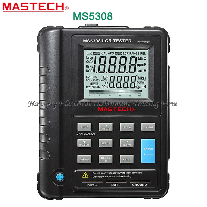 FAST SHIPMENT Mastech MS5308 LCR Meter Portable Handheld Auto Range LCR Meter High-Performance 100Khz
