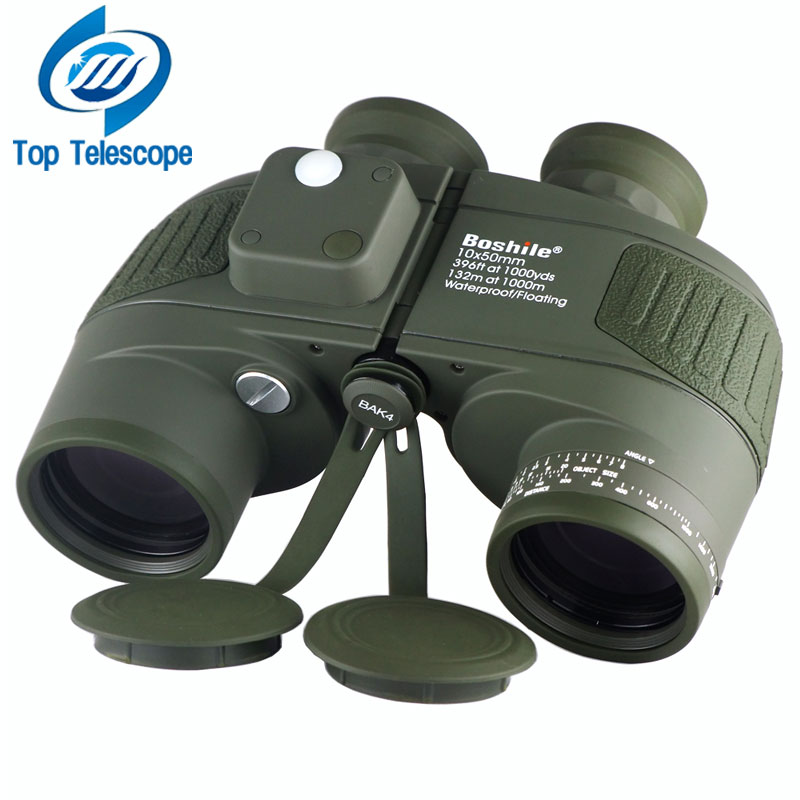 Military Waterproof Binoculars Boshile 10x50 Navy Telescope Binocular with rangefinder and Compass Fully Multi-coated Lens BAK4 military waterproof binoculars boshile 10x50 navy telescope binocular with rangefinder and compass fully multi coated lens bak4