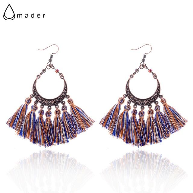 Amader 5 Style Women s Water Drops Shape Colorful Fringe Earrings Female  Boho Ethnic Tassel Earrings Fashion b6609423677c