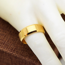 8mm Wedding Ring Gold color Classical Trendy Finger Ring Bands Rings for women and man Stainless