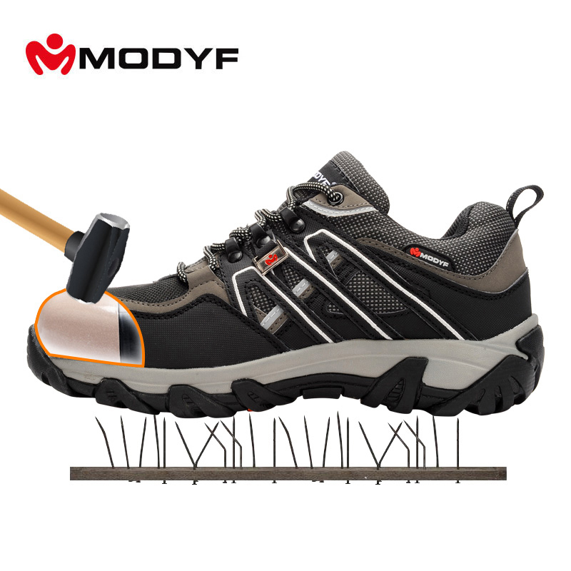 Modyf Men Steel Toe Safety Work Shoes Breathable Hiking sneaker - Мужская обувь - Фотография 1