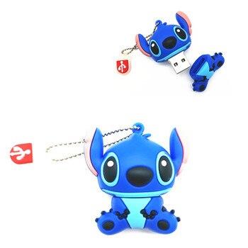 Mini Pen Drive 64GB Cartoon Lovely Stitch USB Flash Drive USB2.0 Memory Disk Pendrive 32GB 16GB 8GB 4GB Pendrives USB Stick
