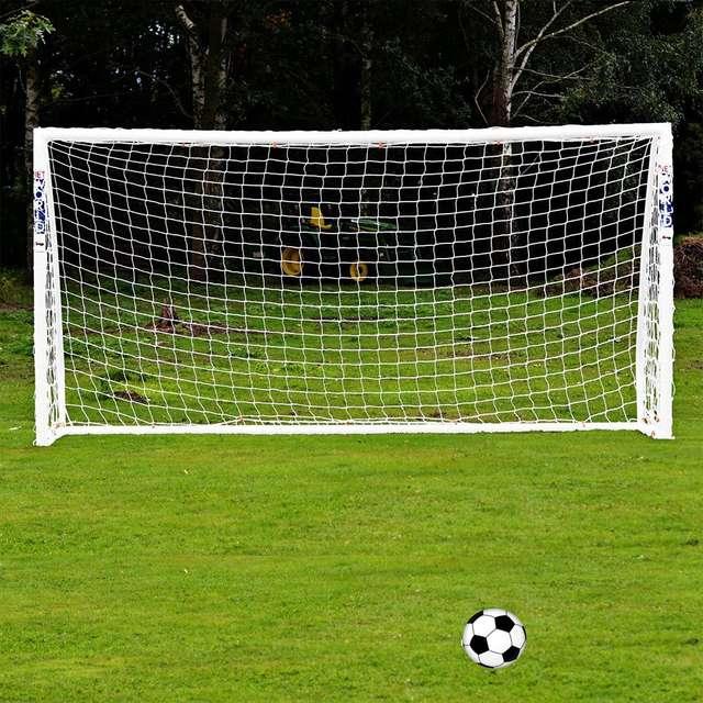 cd2108da931 Full Size 6 x 4FT Football Soccer Goal Post Net 1.8m x 1.2m Sports Match  Training Junior Polypropylene Fiber Just Football Net