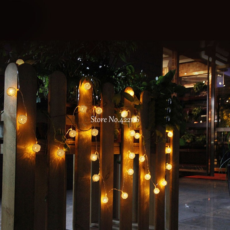Battery operated led string fairy lights holiday lighting iron luces battery operated led string fairy lights holiday lighting iron luces de navidad christmas lights outdoor wedding decorations in led string from lights aloadofball Image collections
