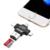 Multi 4 em 1 tipo-c/raio/micro usb/otg leitor de cartão de memória usb 2.0 leitor de cartão inteligente leitor para ios, Android, e Dispositivos USB