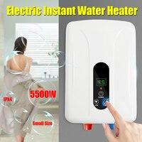 5500 ワット 220 V タンクレスインスタント電気温水ヒーターボイラー浴室のシャワーセット自動保護絶縁耐腐食