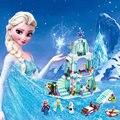 316pcs Color box Dream Princess Elsa Ice Castle Princess Anna Set Model Building Blocks Gifts Toys Compatible legoINGly Friends