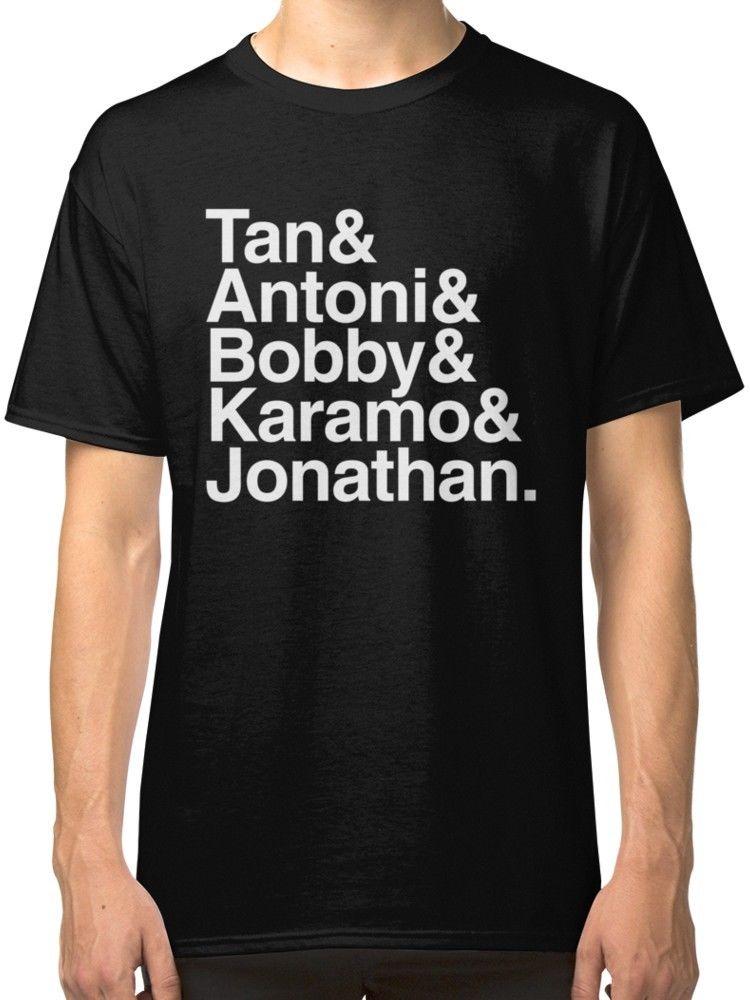 Queer Eye Character Black T-Shirt Tees