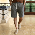 Summer New mens board shorts casual Shorts homme cotton Short pants beach broad shorts bermuda masculina solid