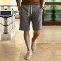 Verão Novo mens board shorts casual Shorts homme algodão calças Curtas praia ampla shorts bermuda masculina sólida