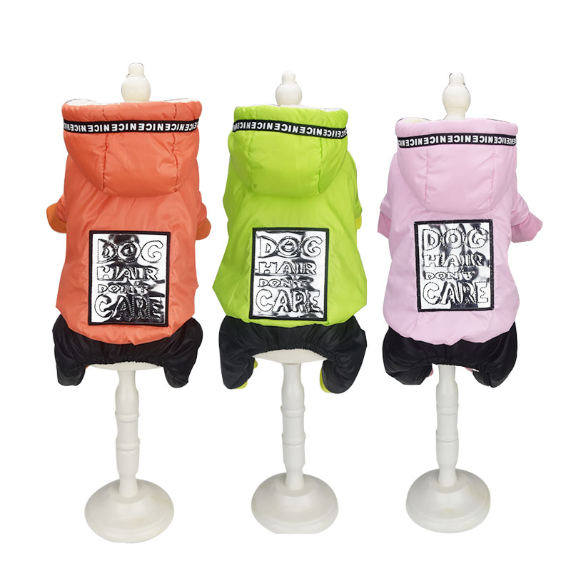 Warm fleece Dog cat pet cotton padded Jacket Coat Winter dog puppy hoodie jumpsuit snow suit Chihuahua small dog clothes for pet