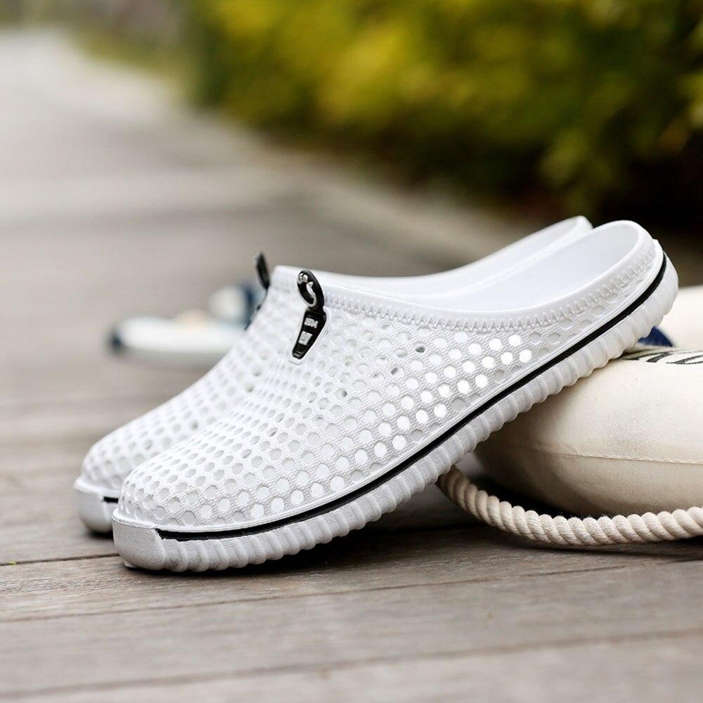 2018 Мужская обувь пляж повседневный мужчин'ы тапочки унисекс выдалбливают повседневная пара пляж сандалии флип-флоп обувь не-скольжения мужские тапочки