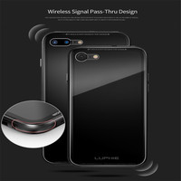 Shockproof Aluminum Bumper Protective Case Clear Tempered Gorilla Glass Back Cover Metal Shell For IPhone 7