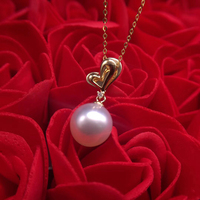 Sinya lover diamond pendant 18K Gold southsea pearl necklace fine jewelry Valentine's Day gift high quality 9 10mm natural pearl