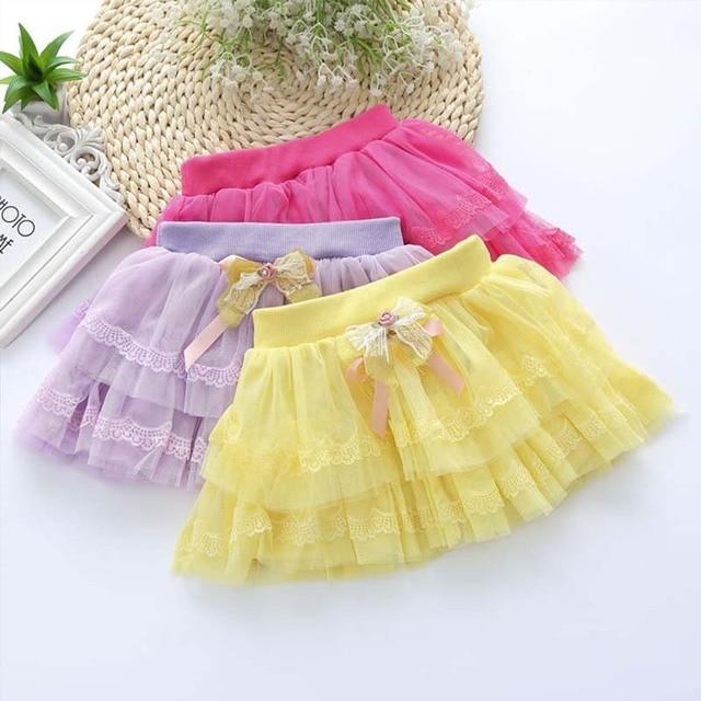 Spring and Summer  Children 's Skirts Ball Gown Skirt Kids Lace Girl Princess Skirt Baby Cake Skirt YD058