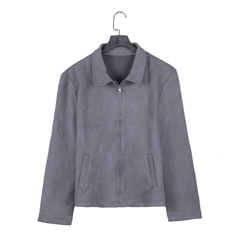 HTB1mkuTauH2gK0jSZJnq6yT1FXaa MJARTORIA 2019 New Fashion Men's Suede Leather Jacket Slim Fit Biker Motorcycle Jacket Coat Zipper Outwear Homme Streetwear
