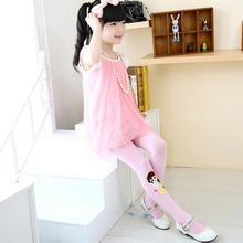 1 Pair 8 Colors Baby Children Girls Tights Kids Cartoon Velvet Slim Dance Full Foot Stockings Tights Cute Clothing