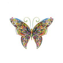 Butterfly Decor Iron-On Patches Clothing Deco Washable Diy Accessory Badges New Design Heat Transfer Clothes Patches
