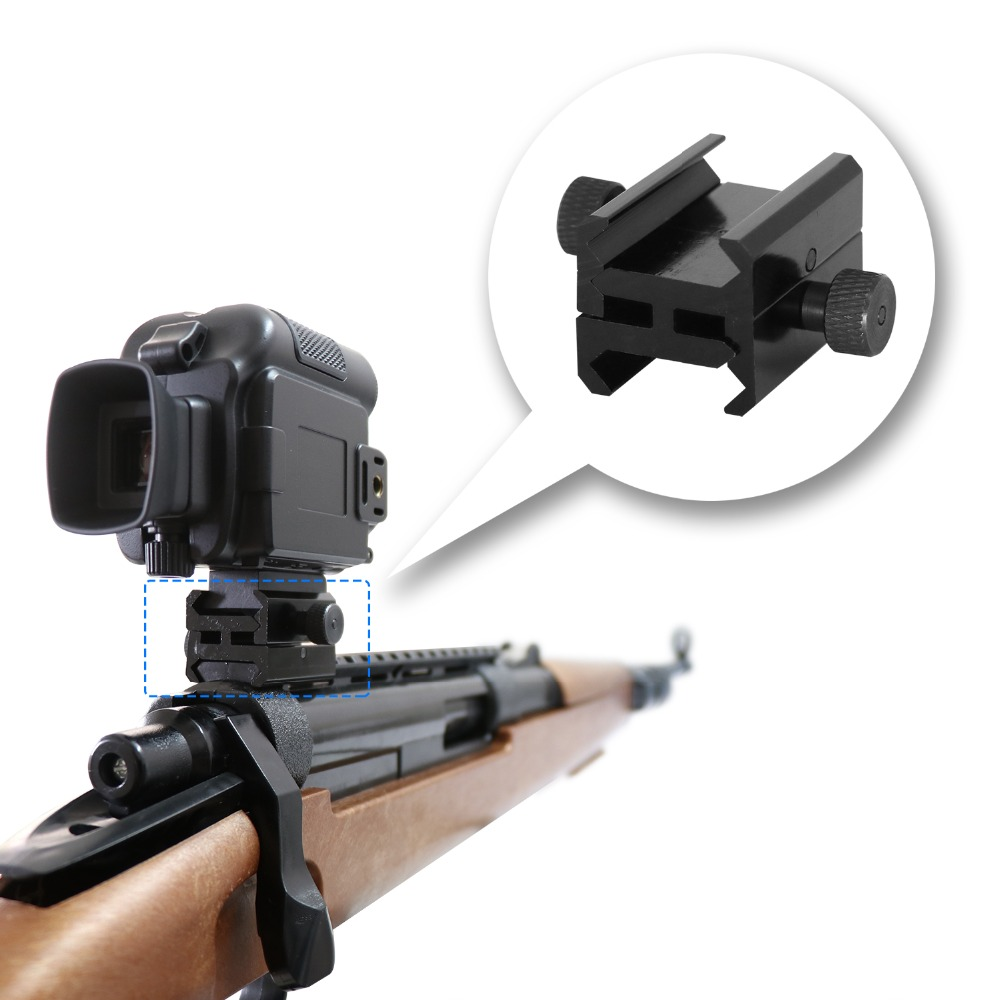 Rifle Bipod Scope Mounts Adapter for Guide Rails or Hunting Camera with guide rails 2 5cm
