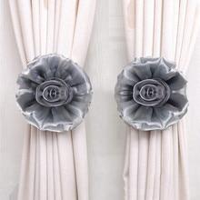 Holdbacks для штор клип на цветок вуаль чистая ткань галстук назад 1 шт. ev dekorasyon aksesuarlar
