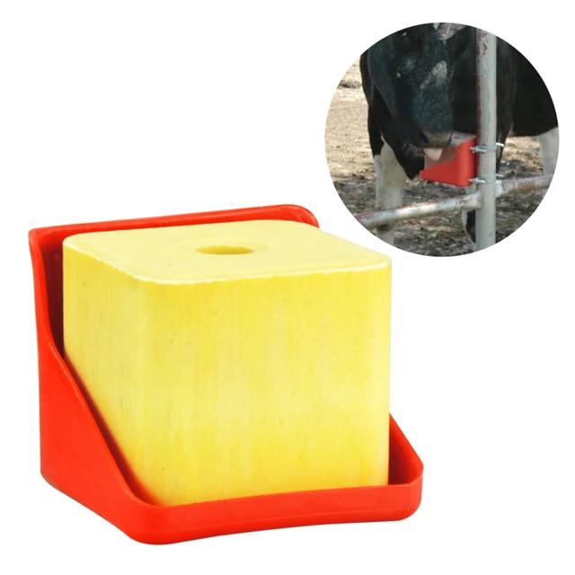 Livestock Thicken Cattle Sheep licking brick dedicated lick brick box feed salt brick licking block box super durable