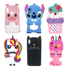 3D Cartoon Stitch Silicone Case For Xiaomi Redmi Note 5 Note5 Pro Global 5.99 inch Soft Cat Unicorn Pink Pig Horse Cover
