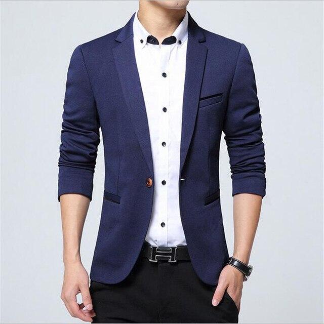 2016 Men Suit Jackets Blazers Dress Suits Men's Casual Fashion ...