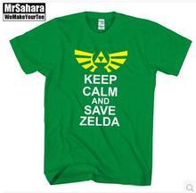 The Legend of ZELDA triforce logo video game Nintendo gamer Men's T-Shirt T Shirt For Men 2015 New Short Sleeve Casual Top Tee