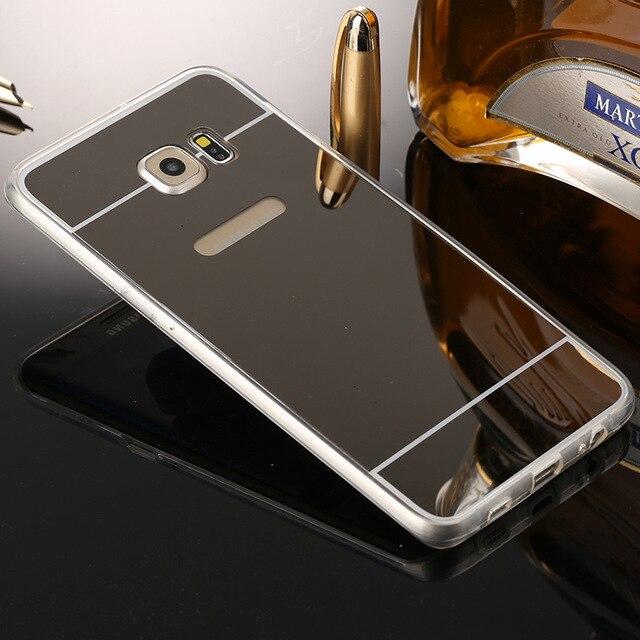 Soft TPU Mirror Case For Samsung Galaxy A5 2017 A7 A310 A510 2016 J1 J5 J7 S4 S5 S6 S7 Edge S8 S8 Plus Gramd Prime Phone Cases