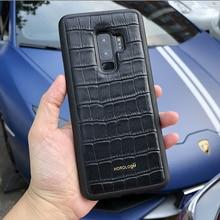 Horologii пользовательское имя Бесплатная Мобильная чехол для samsung Galaxy S10 кожа из коровьей кожи с узором «крокодиловая кожа» в деловом стиле челнока
