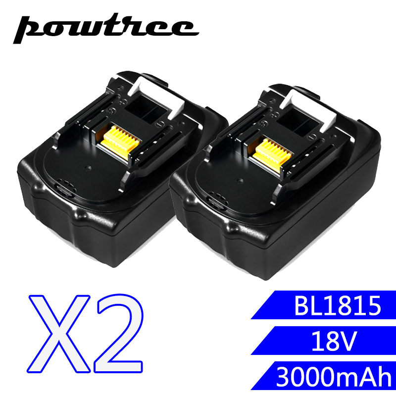 2Packs 18V 4000mAh Li-ion Battery For Makita BL1840 BL1850 LXT400 194230-4 BL1815 BL1830 BHP450 bl1840 electric drill battery 18v 4000mah for makita 194205 3 194309 1 bl1845 bl1830 bl1445 bl1460 18v 4 0ah li ion battery
