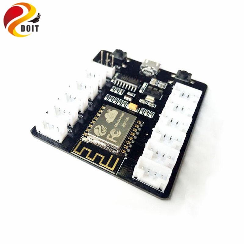 Official DOIT ESP8266 WiFi Grove kit Development Board Kit PMS5003 WiFi Sensor Shield Remote Control Extension Board ESP-12F md2503s module sdk development kit ln03gw development board wifi gps gprs gsm esp8266