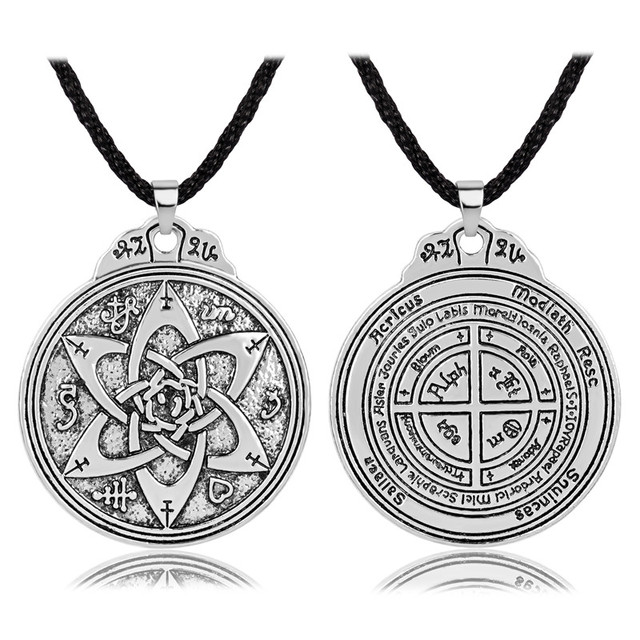 US $4 99 |Talisman for Poets Writers and Actors Pentacle Pendant Hermetic  Jewelry-in Pendant Necklaces from Jewelry & Accessories on Aliexpress com |