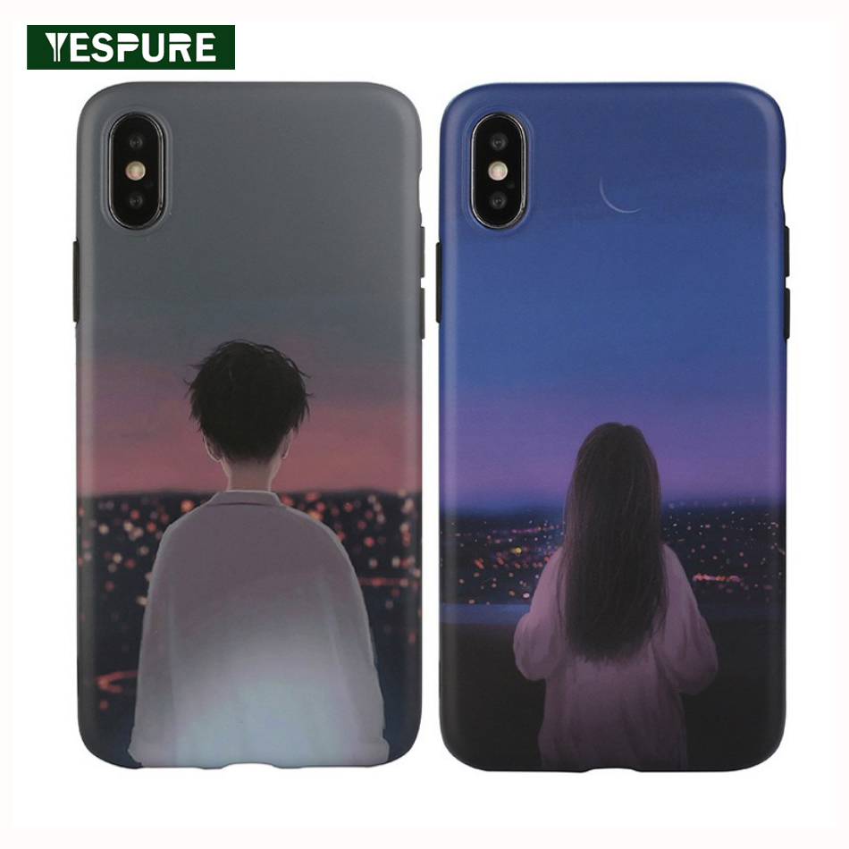 YESPURE Lover Fitted Case for Apple iPhones Cell Phone Case Cover for <font><b>Iphone</b></font> X XS Max XR TPU <font><b>Fille</b></font> <font><b>Coque</b></font> Fundas Dirt-resistant image