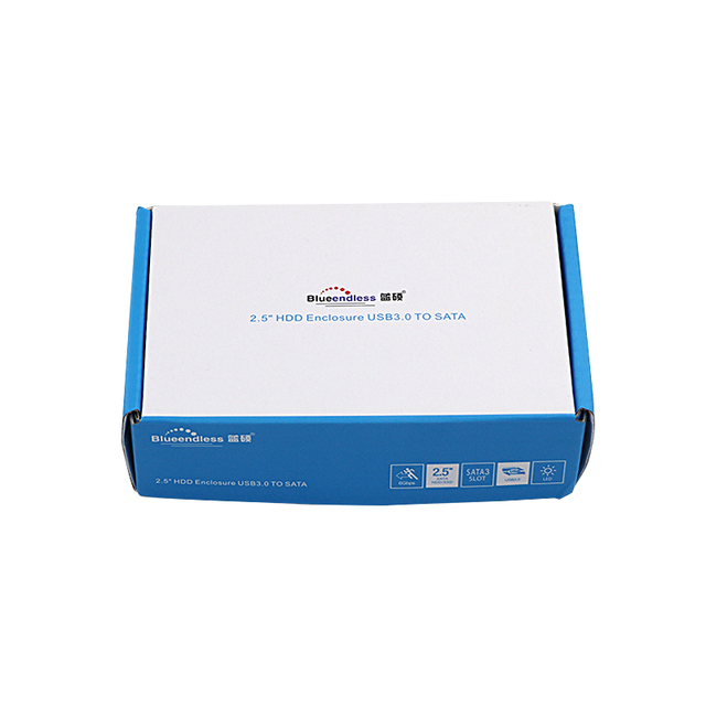 Blueendless 2.5 inch externe hdd caddy type C hard drive carry case sata harde schijf doos laptop behuizing voor hdd /ssd