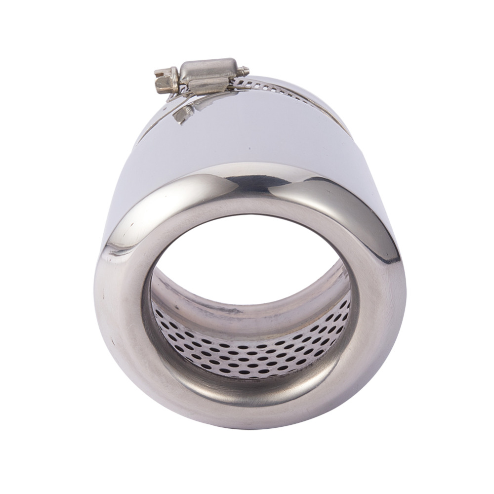 Straight Exhaust Pipe Stainless Steel Muffler Tip Cover Rear Round End Pipes in Mufflers from Automobiles Motorcycles