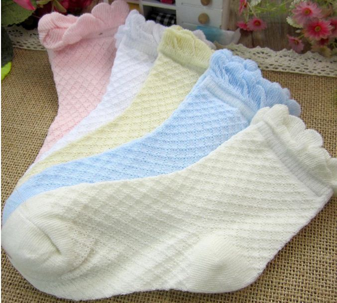Soft Spring/Summer Baby Socks Solid Toddler Socks Baby Boy/ Girl Infant  Cotton Wear Cotton 0-2 Years