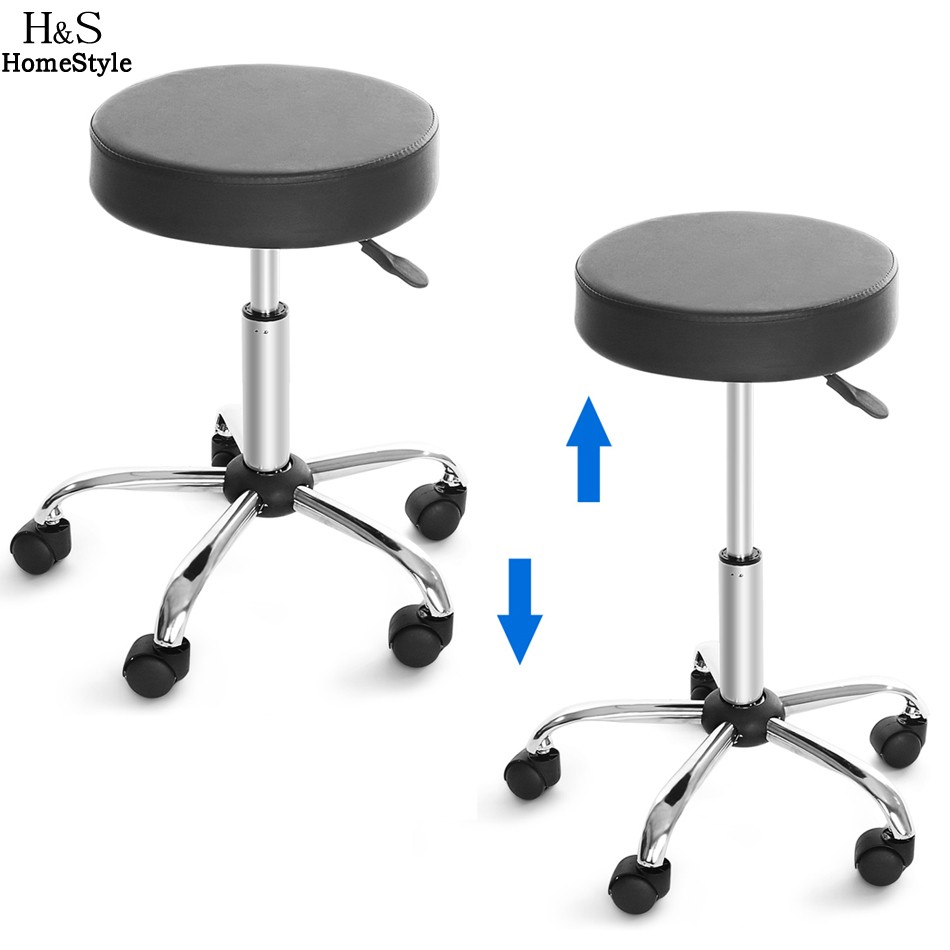 Homdox Synthetic Leather Round Barstool Adjustable High Wheels Bar Stool  Modern Chair Black N40* In Bar Stools From Furniture On Aliexpress.com |  Alibaba ...